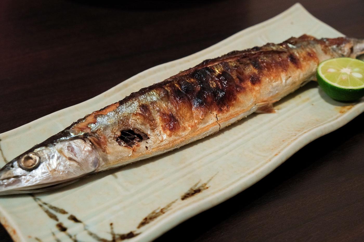 たくみの夜コース・新秋刀魚の塩焼き