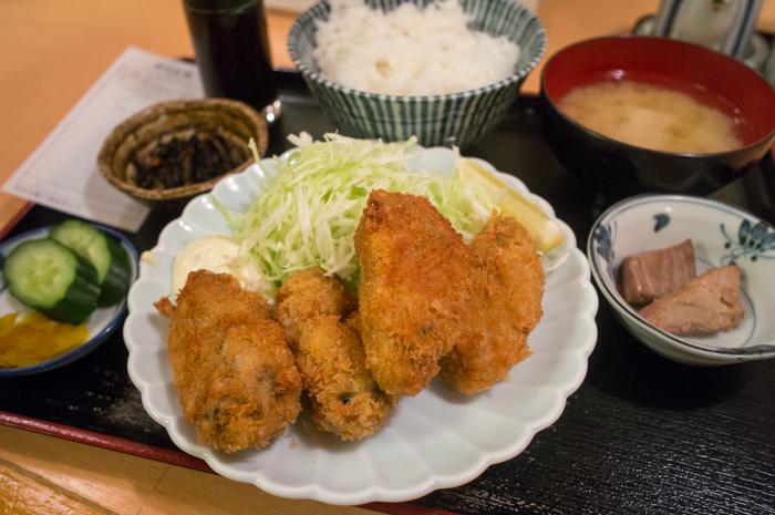 虎ノ門・魚膳_カキフライ定食
